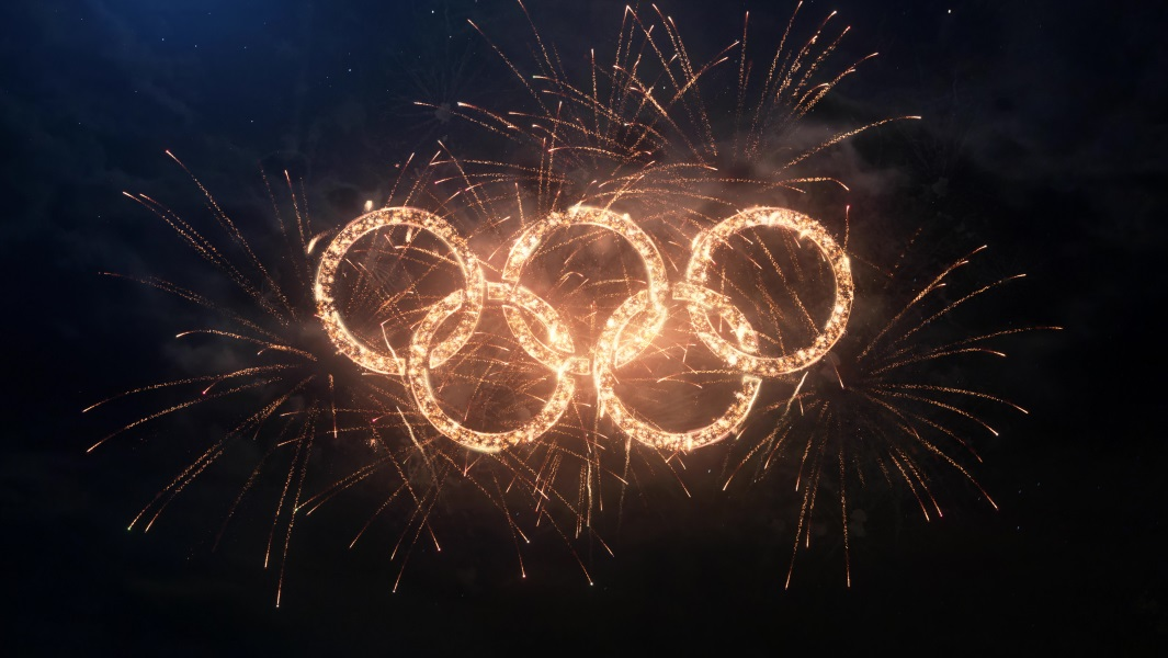 An image of the Olympic rings