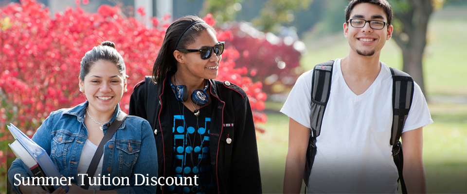 Undergraduate students are eligible for a 33% tuition discount this summer