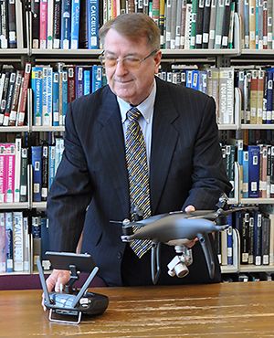 Dr. Richard Baker with drones