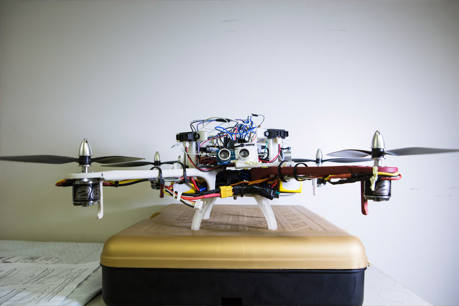 drone with robot attached