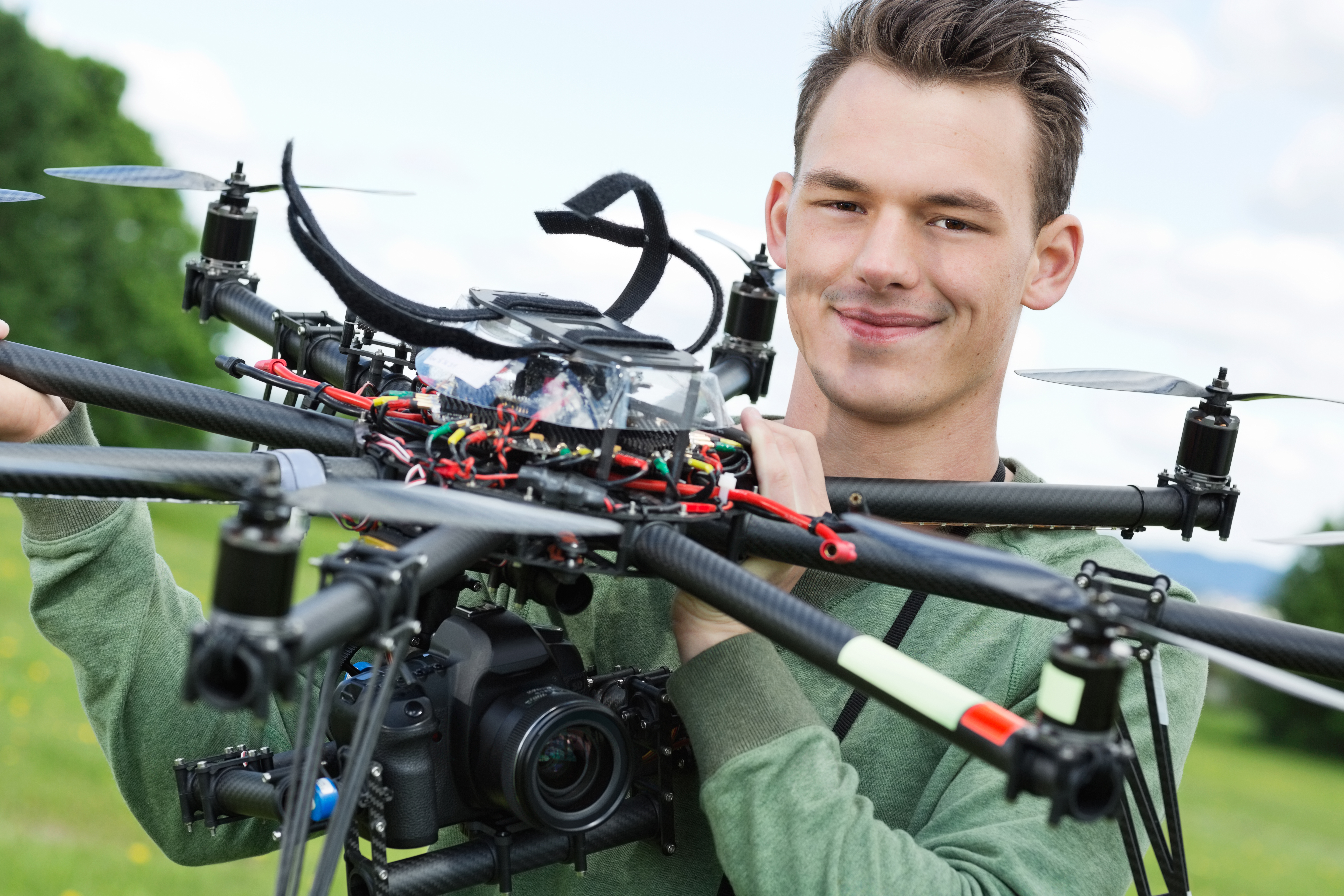 Young drone pilot STOCK PHOTO