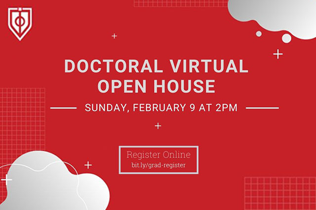 virtual Doctoral Open House this Sunday, February 9 at 2:00 p.m.