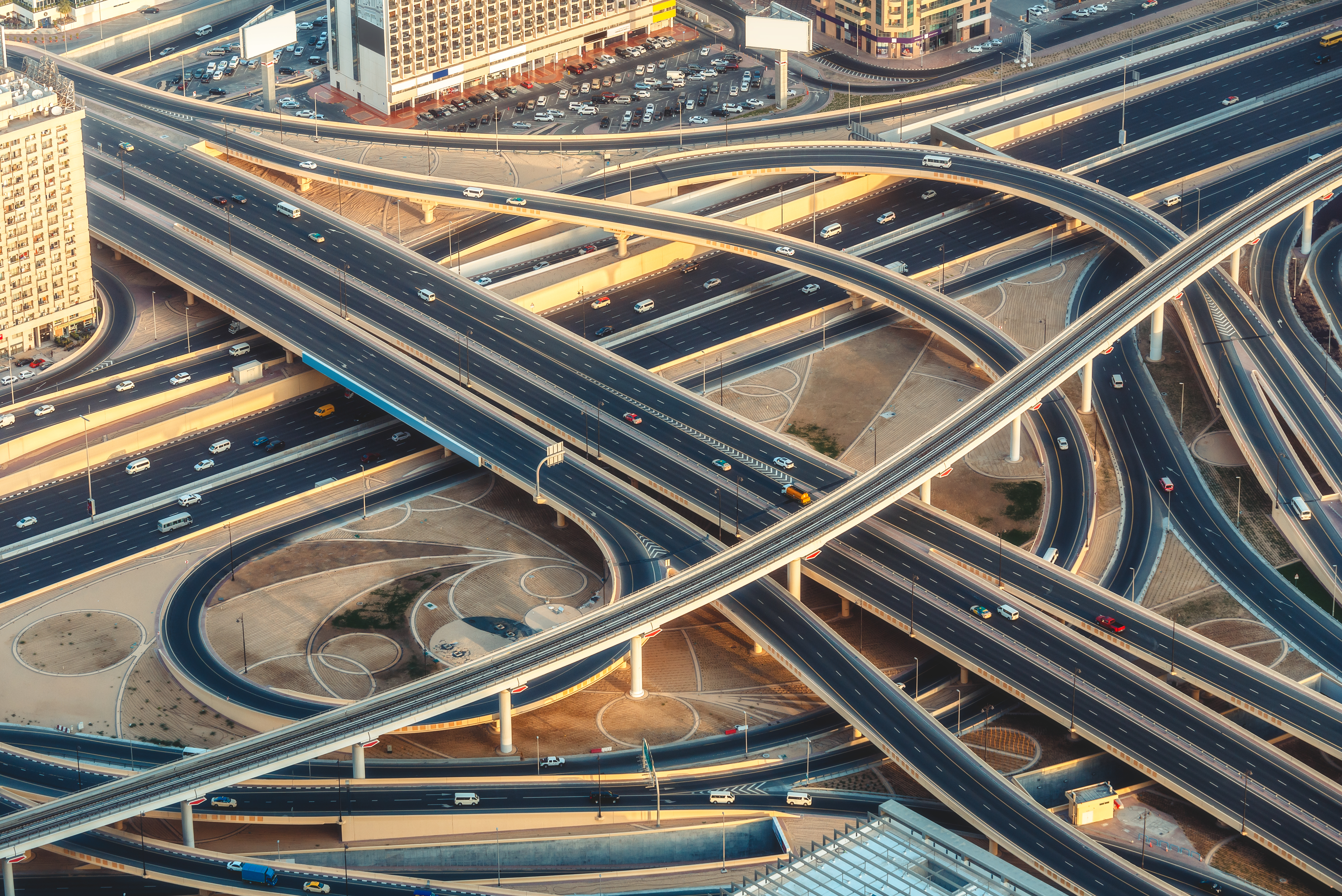 Stock photo of roadways intersecting
