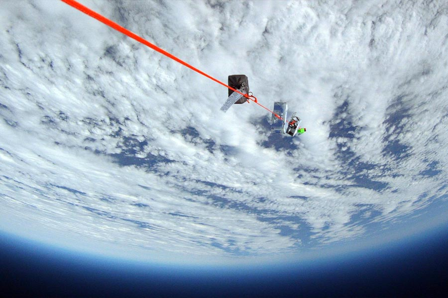 high-altitude balloon in space