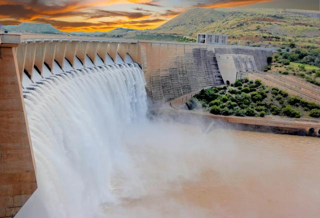 Water dam critical infrastructure