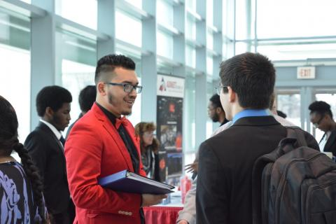 students at career conference